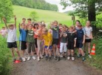 Die erfahrensten Crossläufer kamen aus Klasse 4.