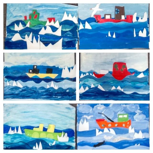 Fischkutter im Eismeer